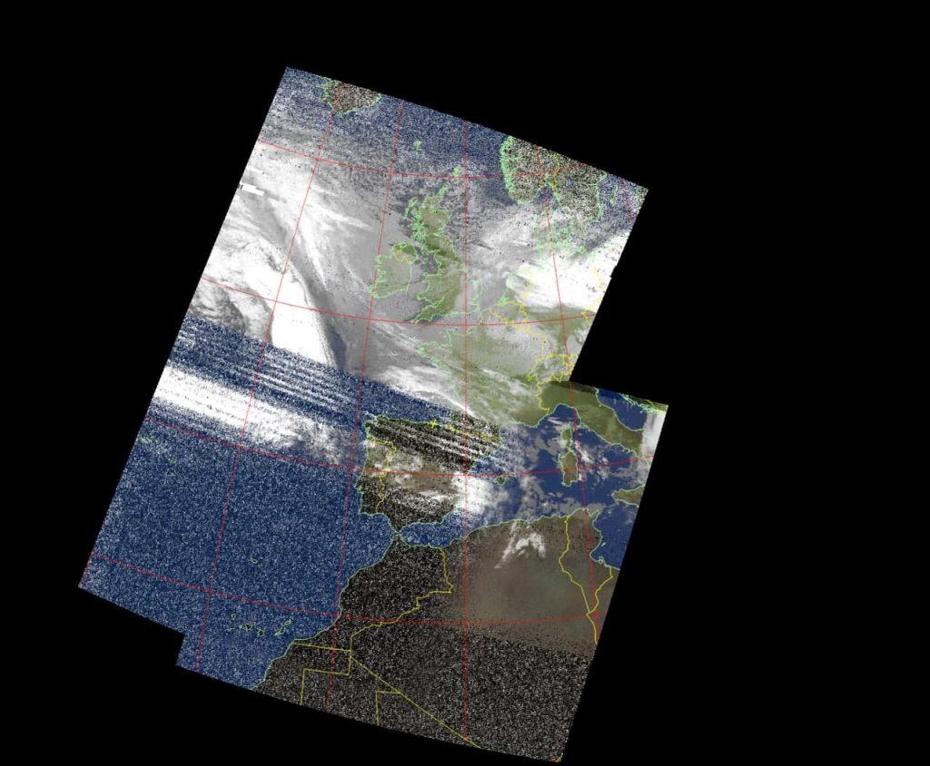 Imagen NOAA recibida en Bizkaia